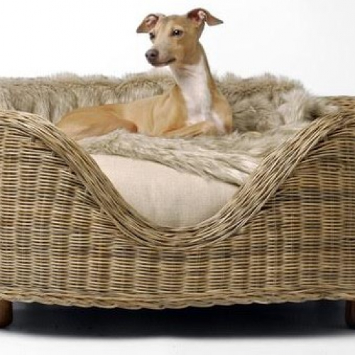 Rattan dog basket caneworld for Cane and wicker world